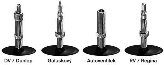 Typy ventilků na kolo
